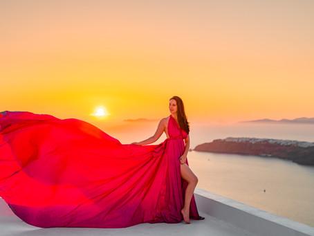 SANTORINI DRESS PHOTOSHOOT