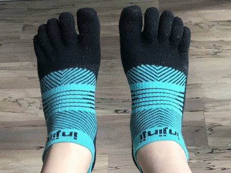 High Five...with my 5-fingered toe socks!