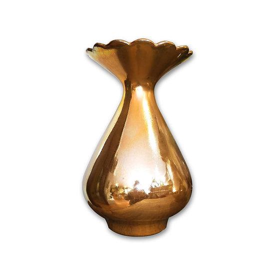 EDG - Enzo De Gasperi Vaso in porcellana dorata in2 misure