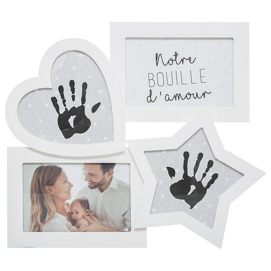 Cornice portafoto con impronte 2+2 foto