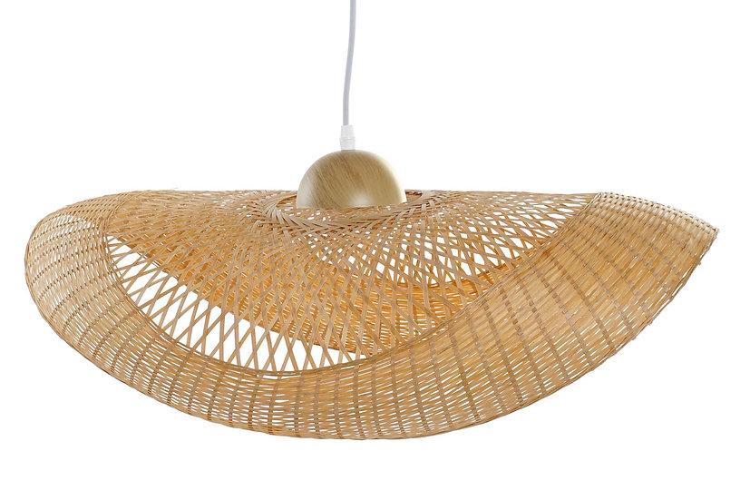 Lampadario da soffitto in bamb a forma di cappello