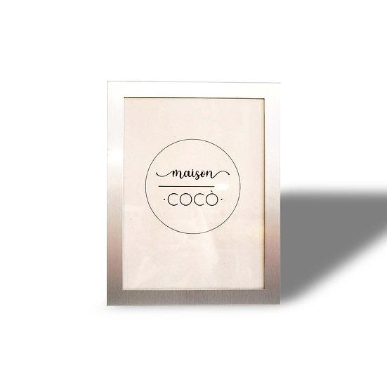 IXIA Cornice portafoto rettangolare argentata per foto 15x20 cm