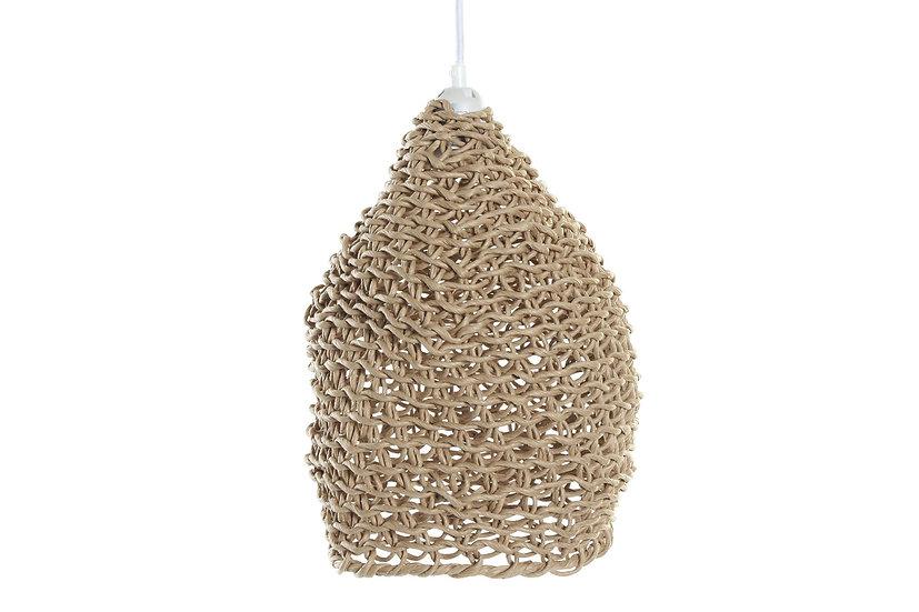 Lampadario da soffitto in fibra colore naturale