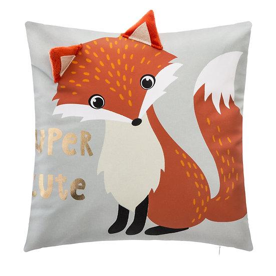 Cuscino quadrato con volpe