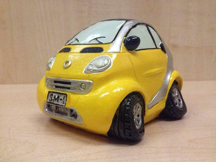 Salvadanaio in ceramica a forma di auto/moto