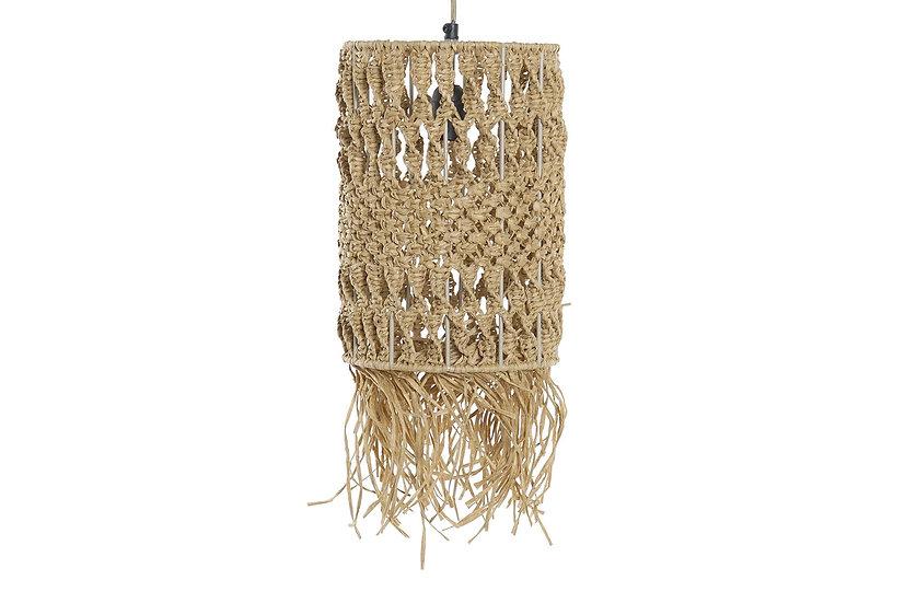Lampadario da soffitto in fibra e metallo colore naturale