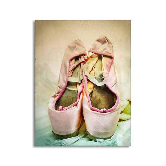 Quadro in tela con stampa scarpette di danza in 2 versioni