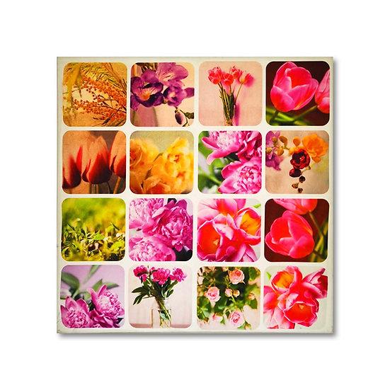 Quadro in tela con stampa fiori in 2 modelli