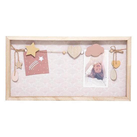 Cornice portafoto in legno Rose et Lily