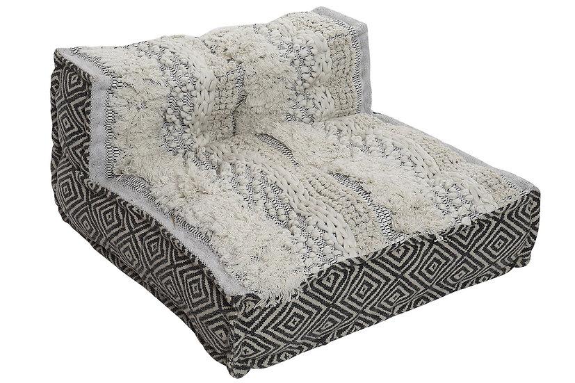 Cuscino da pavimento in cotone con orlatura