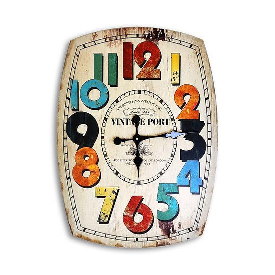 Orologio da parete vintage in legno.