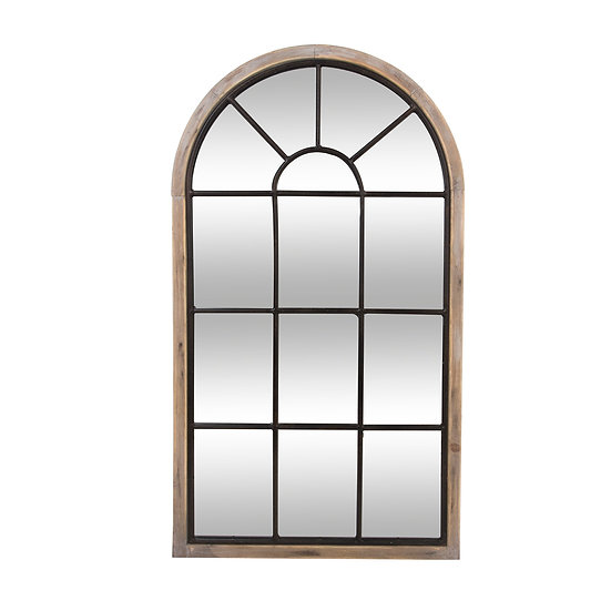Specchio a forma di vetrata modello Zoe