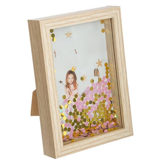 Cornice portafoto con paillettes in 2 colori