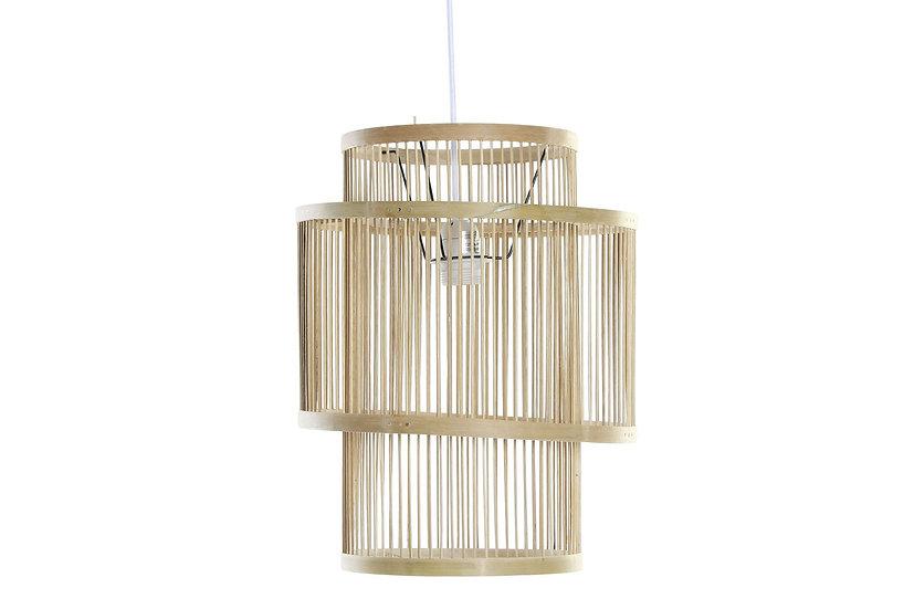 Lampadario da soffitto in bamb colore naturale