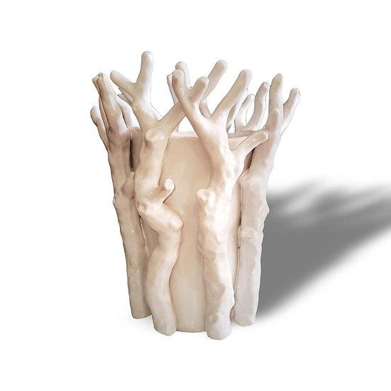 Vaso in ceramica a forma di corallo