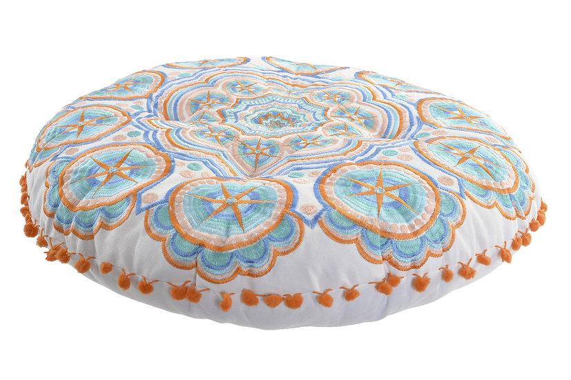 Cuscino da pavimento in viscosa con fantasia stella ricamata yoga