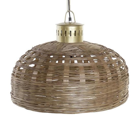 Lampadario da soffitto in bamb e metallo colore naturale