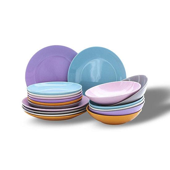 Andrea Bizzotto Set 6 piatti in ceramica in 3 formati