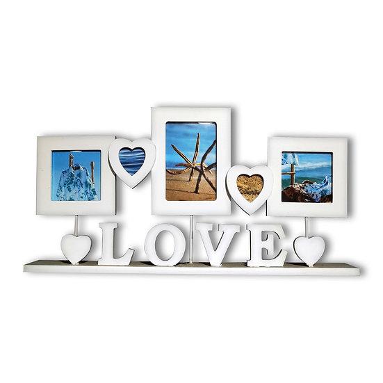 Portafoto in legno da scrivania con scritta LOVE.
