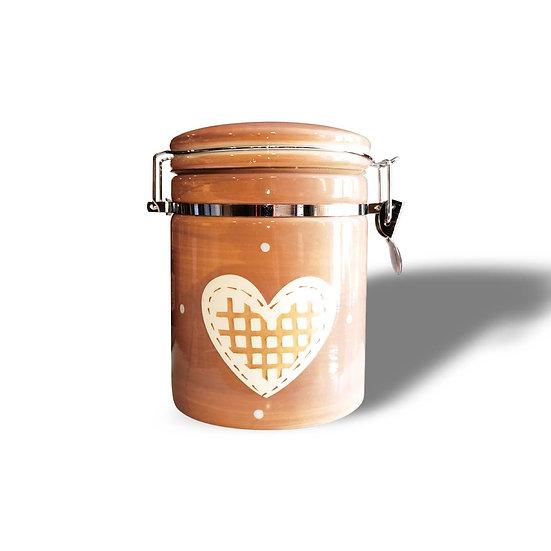 RT Decor Barattolo ermetico Dec. Cuore in ceramica