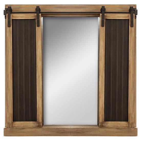 Specchio a forma di finestra con ante