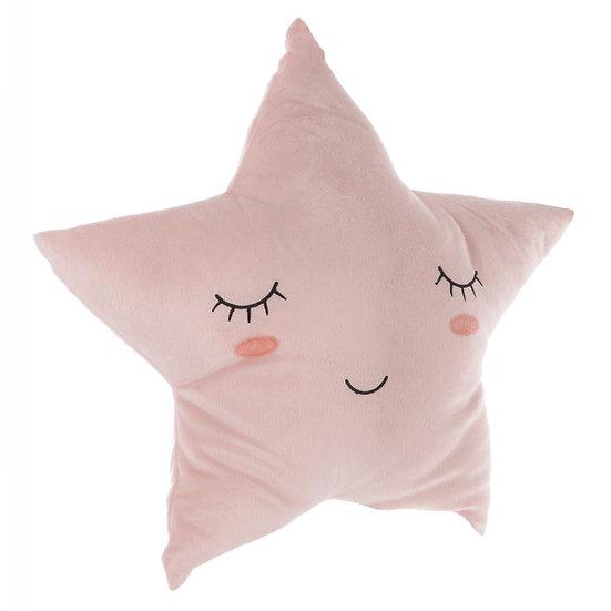 Cuscino stella in poliestere in 3 colori