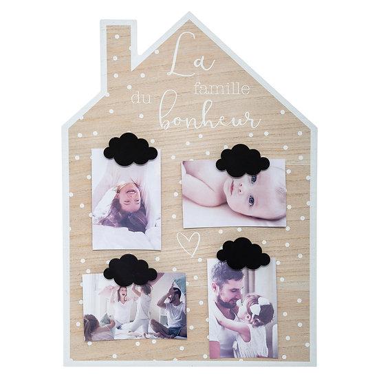 Cornice portafoto in MDF a forma di casa