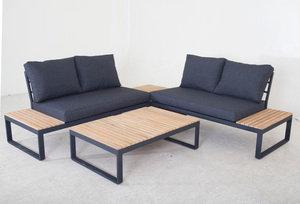 """Salotto """"Andorra"""" in alluminio e legno"""