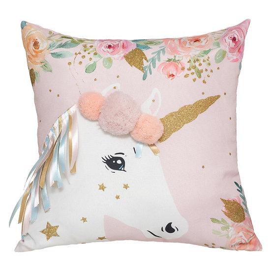 Cuscino a forma di Unicorno con nastri