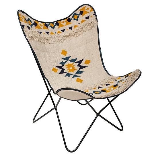 Sedia con Cover in pelle a farfalla in 4 modelli