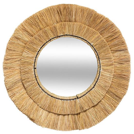 Specchio in rafia modello Safari D57