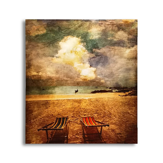 Quadro su tela Panorama in Spiaggia