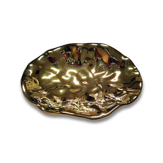Vuotatasche in ceramica dorata