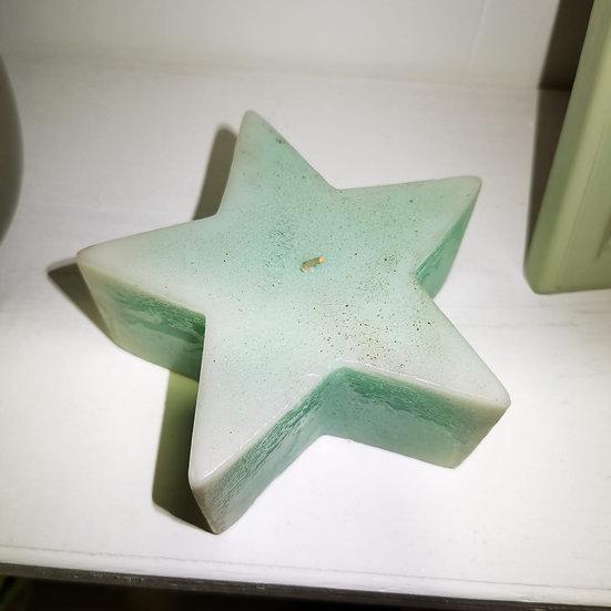 Candela a forma di stella, verde