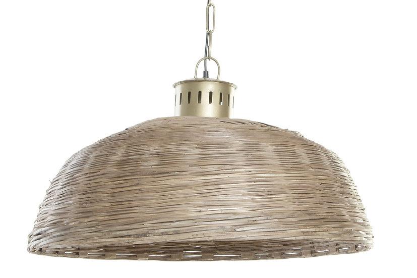 Lampadario da soffitto in vimini e metallo colore naturale