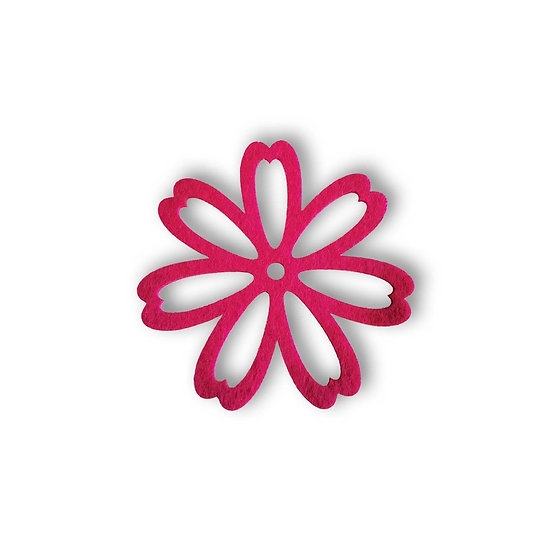 Set 4 Sottobicchieri in feltro a forma di fiore