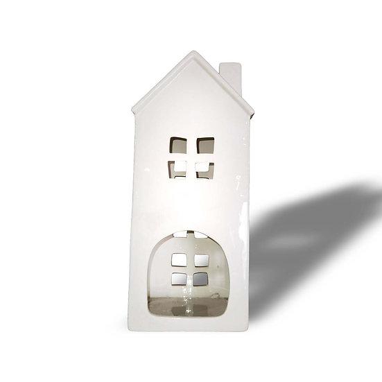 H&S Decorations Lanterna in ceramica a forma di casa