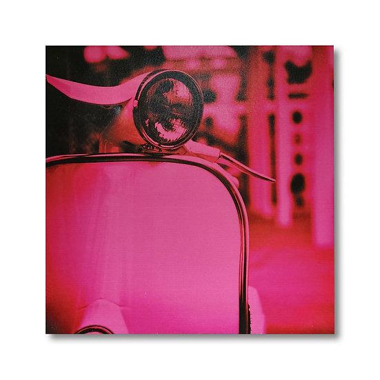 Quadro in tela con stampa scooter in 3 colori