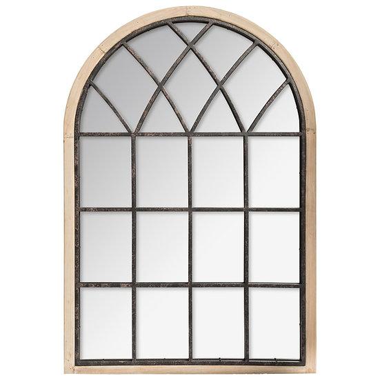 Specchio a forma di vetrata modello Joe