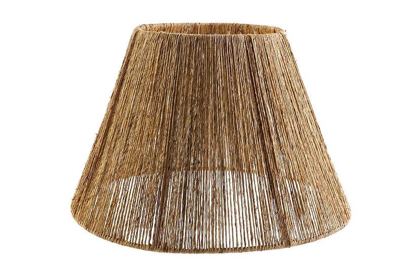 Coprilampada da soffitto in iuta e metallo colore naturale