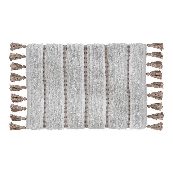 Tappeto da bagno di cotone con ponpon