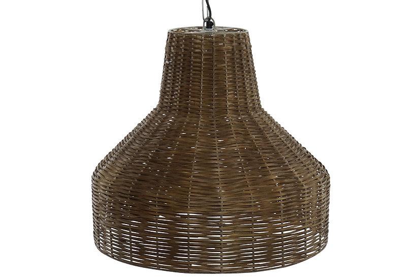 Lampadario da soffitto in rattan e metallo colore naturale