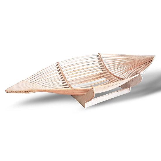 Centrotavola in legno a forma di barca