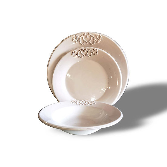 Andrea Bizzotto Set da 12 piatti in ceramica modello Romantique