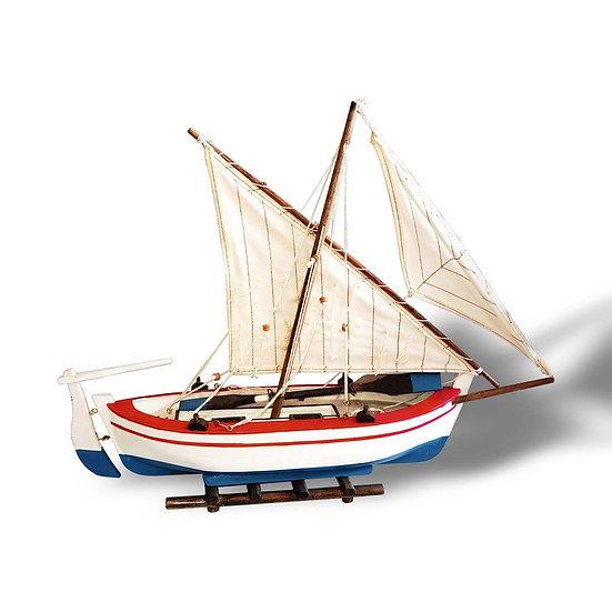Modellino di barca in legno in 2 modelli