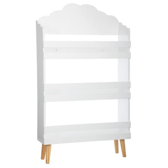 Libreria nuvola bianca 3 ripiani in mdf in 2 colori