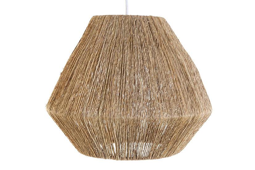 Lampadario da soffitto in iuta colore naturale