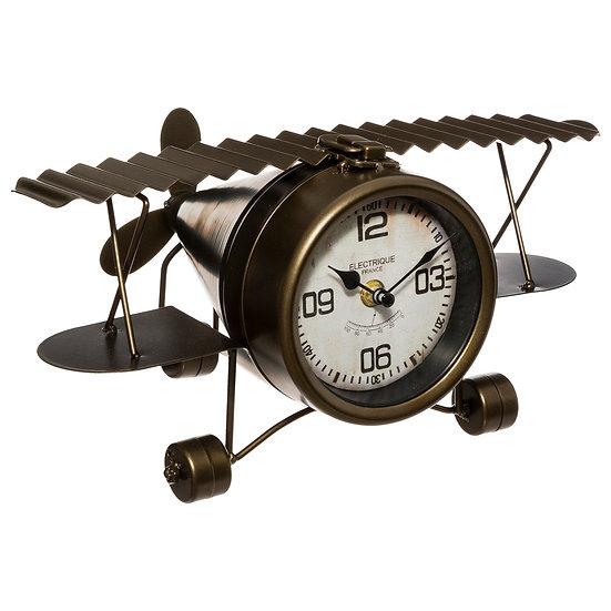 Orologio da tavolo in ferro modello aereoplano