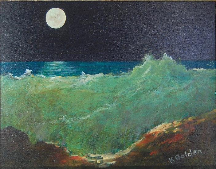 Moonlit Waves