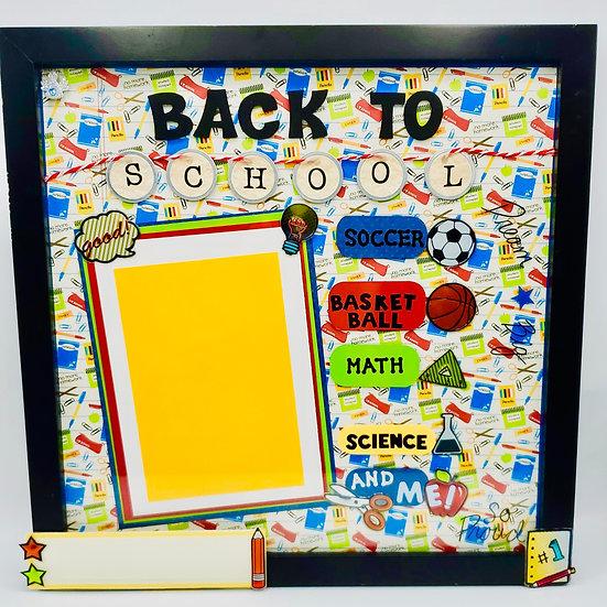 Back to School Scrapbooking Framed Design Gift For Elem/Middle/High School Kids